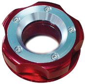 DCR KAWASAKI ULTRA 250/260 RED W/SILVER RING BILLET OIL CAP
