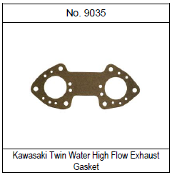 GASKET TECH KAWASAKI TWIN WATER HI FLOW EXHAUST GASKET