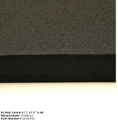 "26MM PLUSH 17.5""X48"" BLACK"