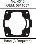 GASKET TECHNOLOGY POLARIS 1050/1200 BASE GASKET (3 REQ)