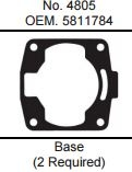 GASKET TECHNOLOGY POLARIS 700 BASE GASKET (2 REQUIRED)